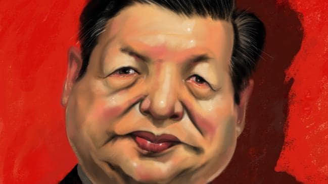 Cartoon of Xi Jin Ping